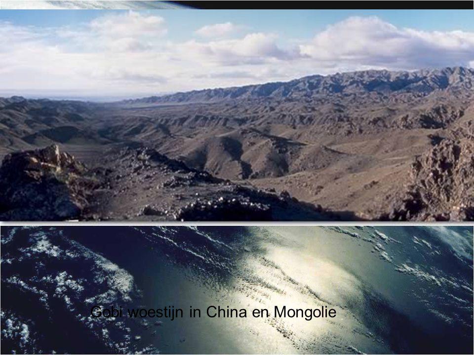 Gobi woestijn in China en Mongolie