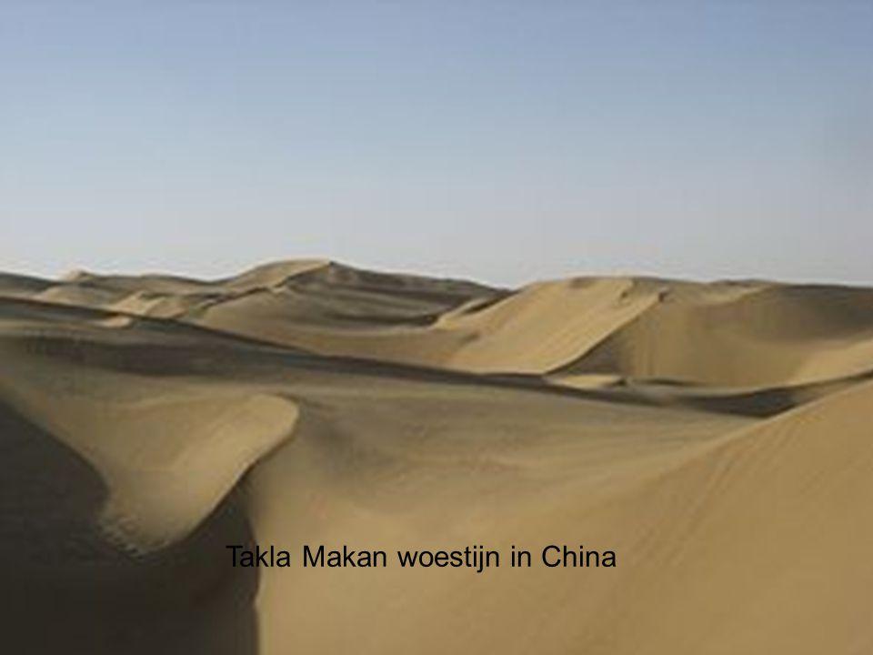 Takla Makan woestijn in China