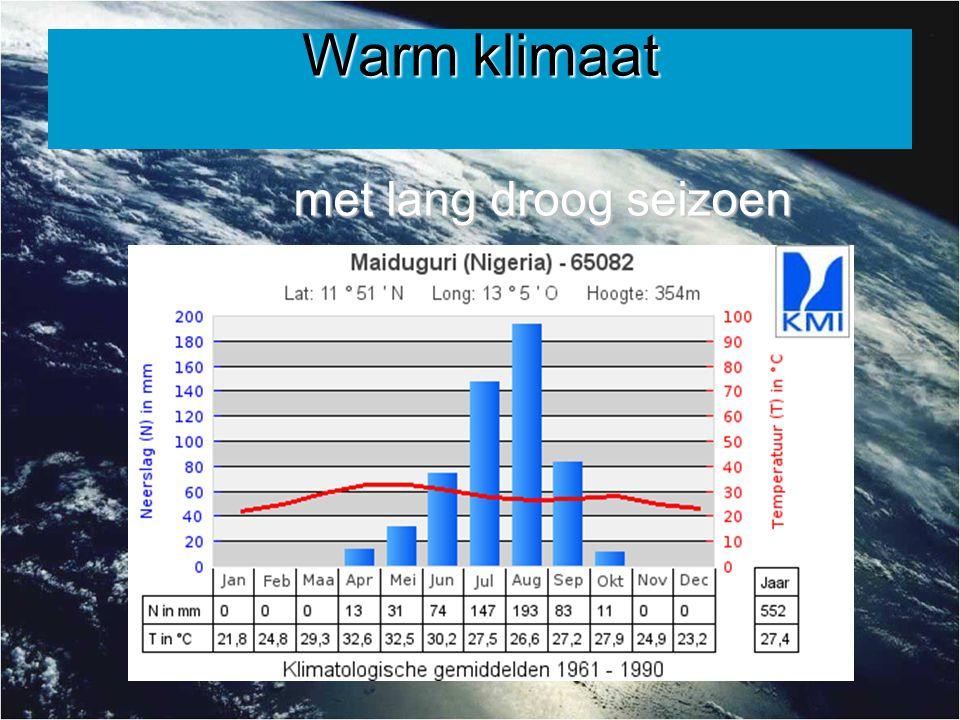 Warm klimaat met lang droog seizoen