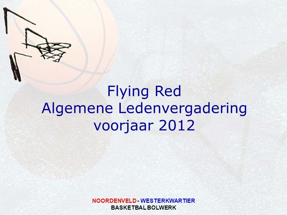 NOORDENVELD - WESTERKWARTIER BASKETBAL BOLWERK Flying Red Algemene Ledenvergadering voorjaar 2012