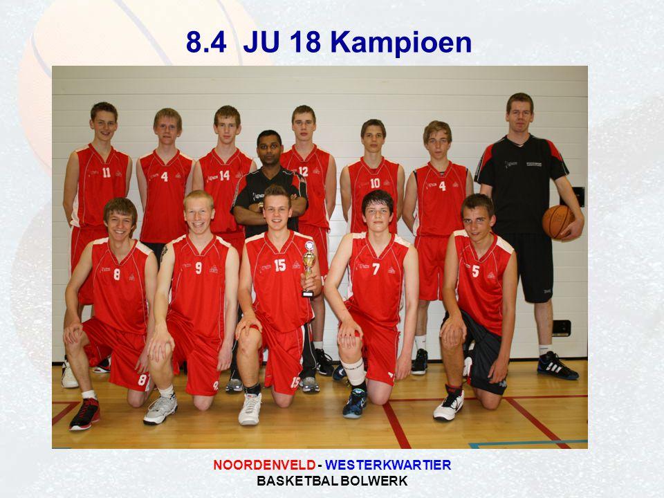 NOORDENVELD - WESTERKWARTIER BASKETBAL BOLWERK 8.4 JU 18 Kampioen