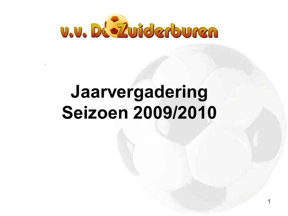1 Jaarvergadering Seizoen 2009/2010