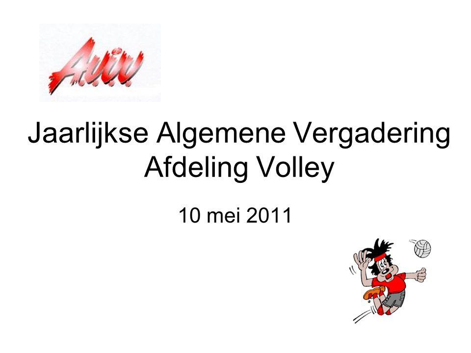 Jaarlijkse Algemene Vergadering Afdeling Volley 10 mei 2011