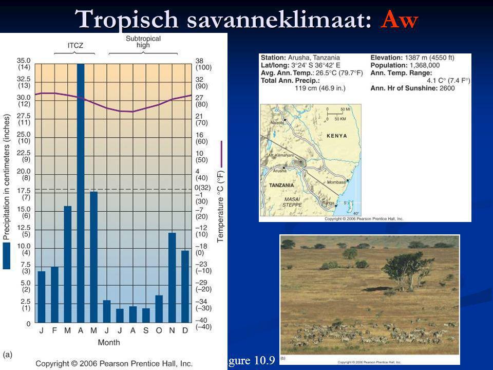 Tropisch savanneklimaat: Aw Figure 10.9