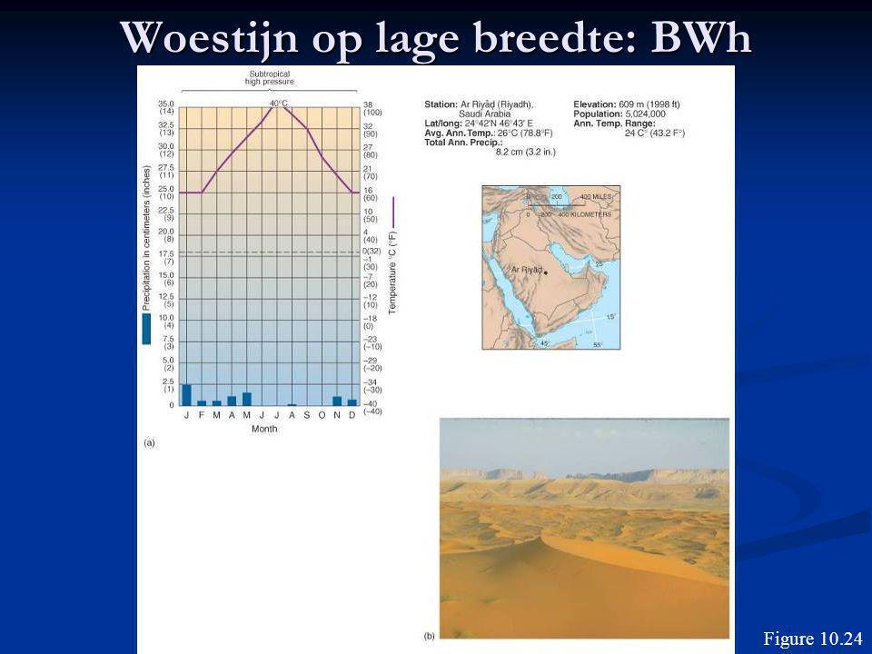 Woestijn op lage breedte: BWh Figure 10.24