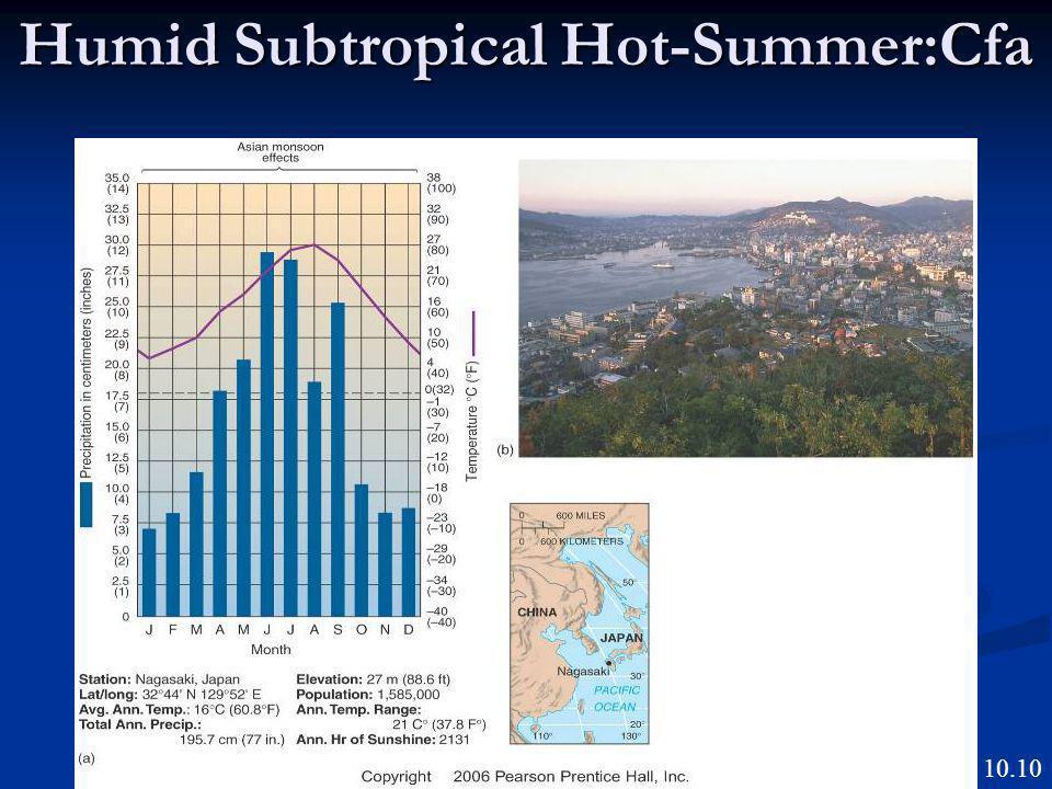 Humid Subtropical Hot-Summer:Cfa Figure 10.10