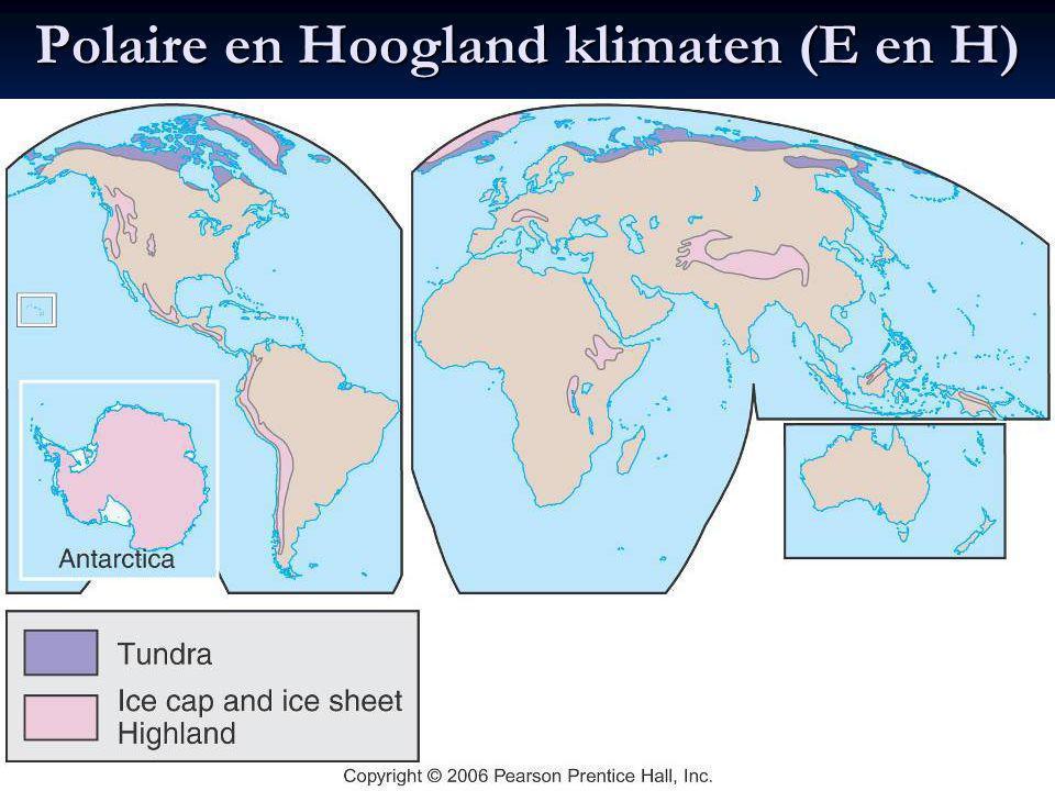 Polaire en Hoogland klimaten (E en H)