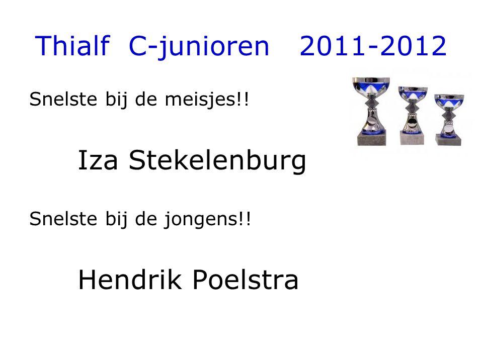 Thialf C-junioren 2011-2012 Snelste bij de meisjes!! Iza Stekelenburg Snelste bij de jongens!! Hendrik Poelstra
