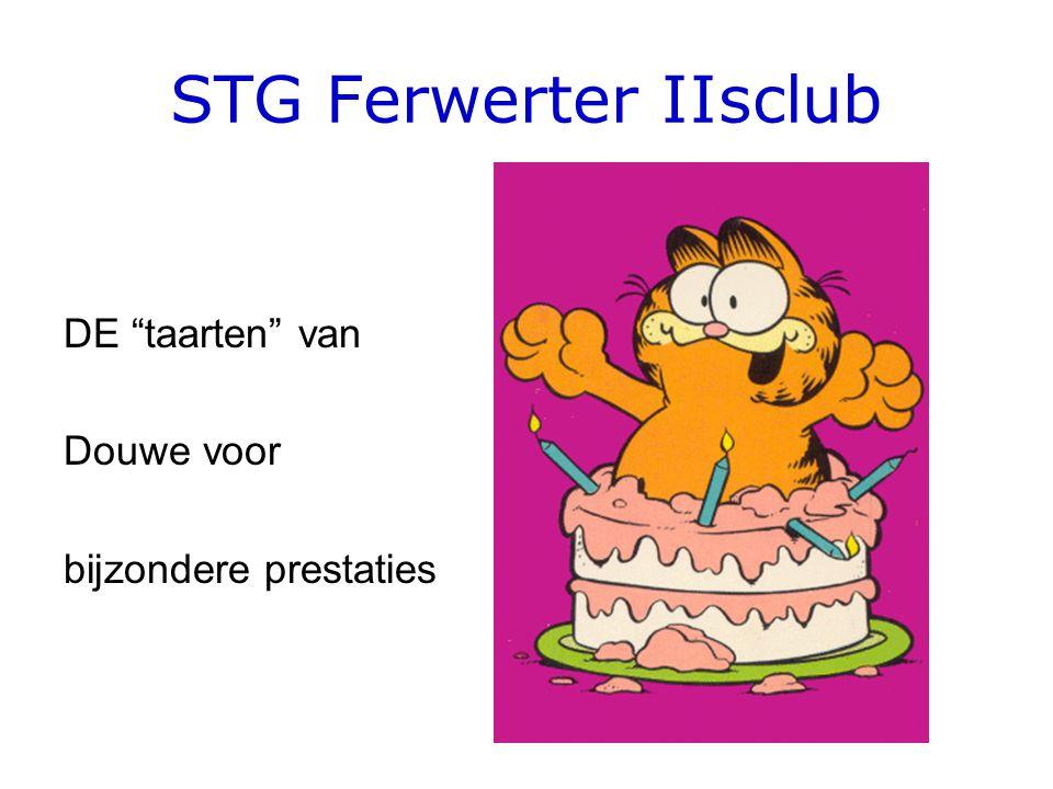 """STG Ferwerter IIsclub DE """"taarten"""" van Douwe voor bijzondere prestaties"""