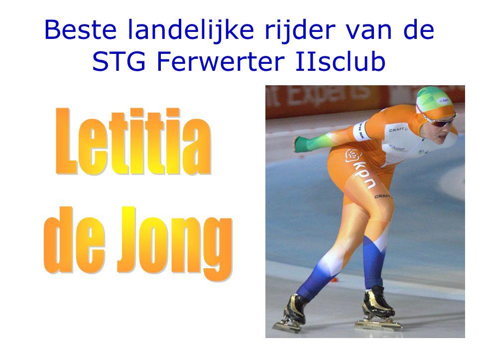 Beste landelijke rijder van de STG Ferwerter IIsclub