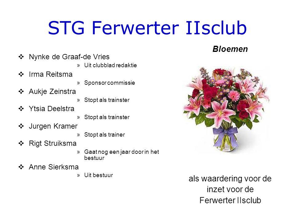STG Ferwerter IIsclub  Nynke de Graaf-de Vries »Uit clubblad redaktie  Irma Reitsma »Sponsor commissie  Aukje Zeinstra »Stopt als trainster  Ytsia