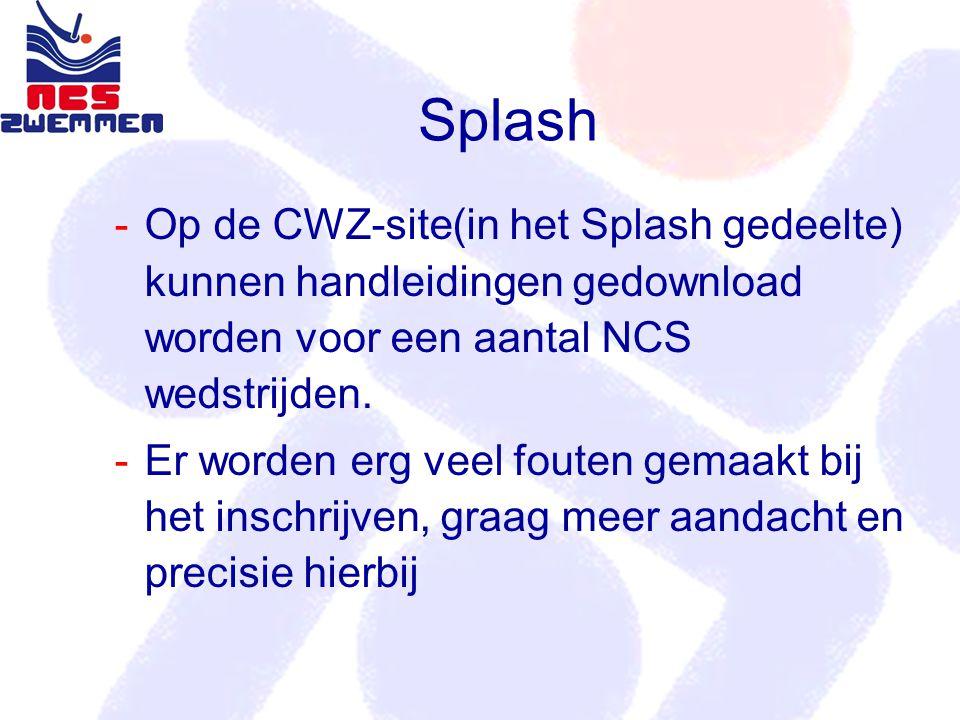 Op de CWZ-site(in het Splash gedeelte) kunnen handleidingen gedownload worden voor een aantal NCS wedstrijden.