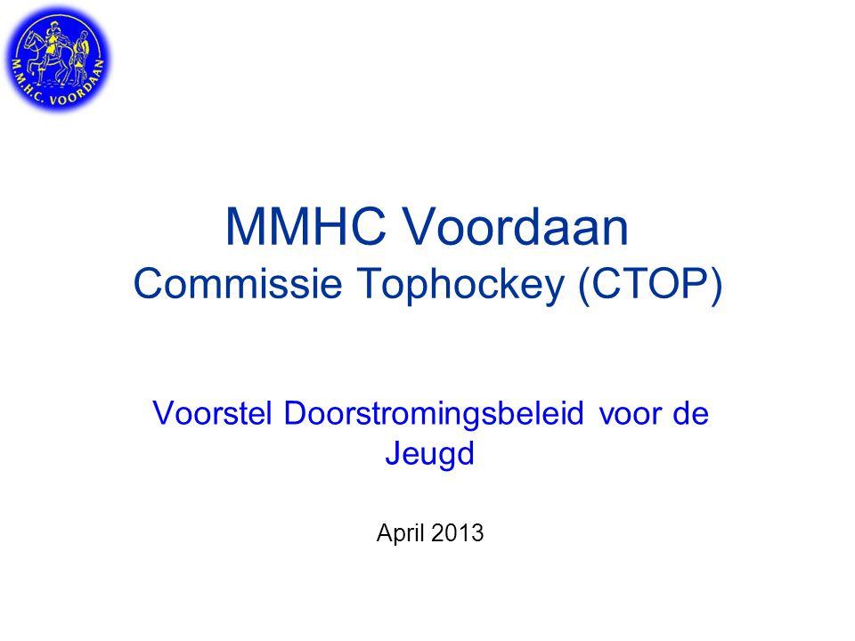 MMHC Voordaan Commissie Tophockey (CTOP) Voorstel Doorstromingsbeleid voor de Jeugd April 2013