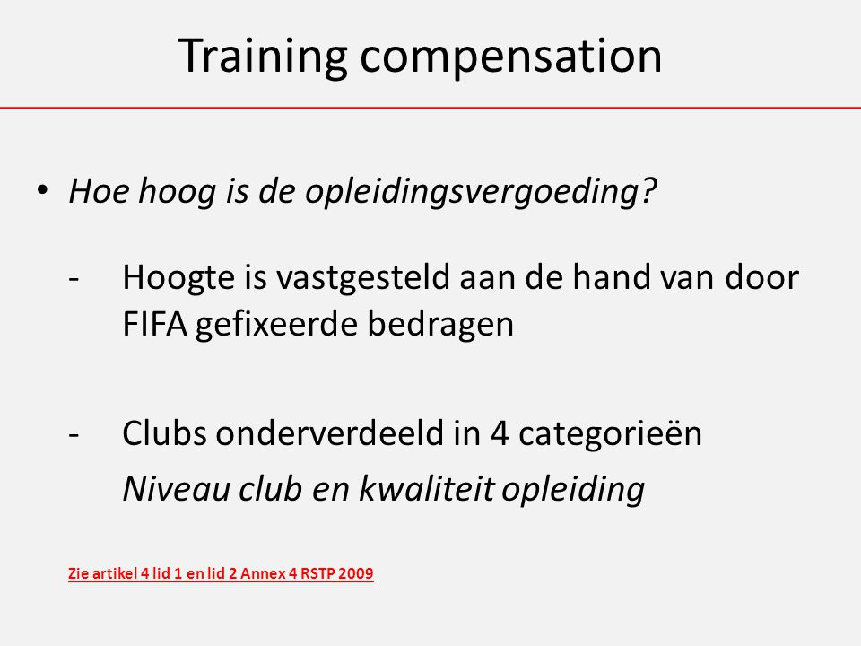 Training compensation Hoe hoog is de opleidingsvergoeding.
