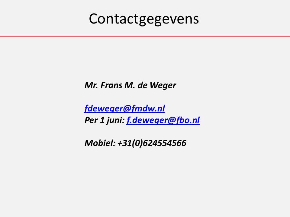 Contactgegevens Mr. Frans M.