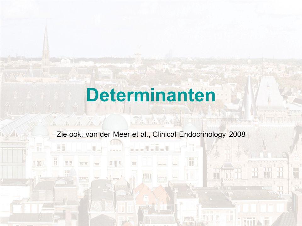 Determinanten Zie ook: van der Meer et al., Clinical Endocrinology 2008