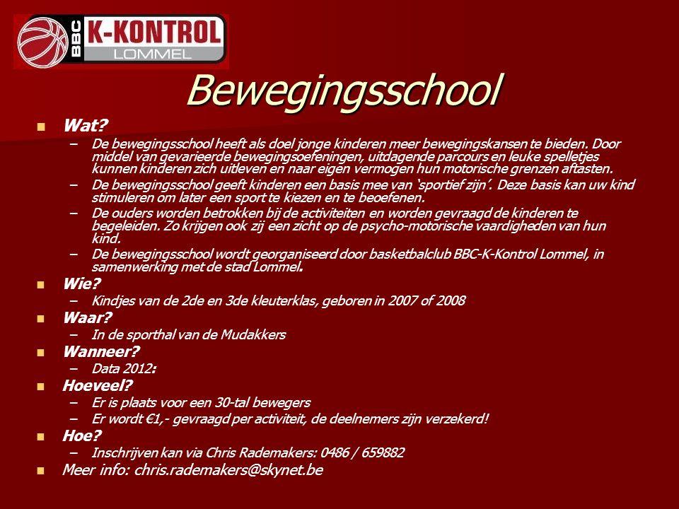 Pupillen B Coach : Marc Van Heukelom Coach : Marc Van Heukelom Trainingsuren : dinsdag : 18.30-20.00u.