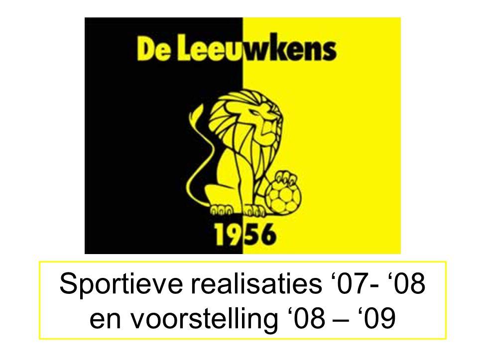 Sportieve realisaties '07- '08 en voorstelling '08 – '09