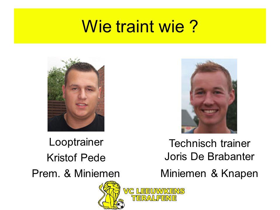 Wie traint wie . Looptrainer Kristof Pede Prem.