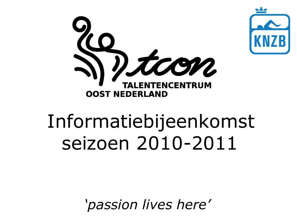Informatiebijeenkomst seizoen 2010-2011 'passion lives here'