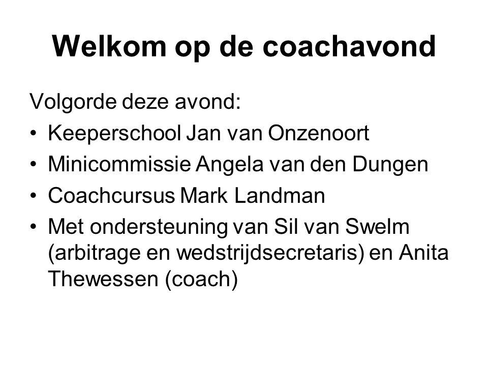 Coachavond mini's Maandag 3 september 2012 Hockeyclub Den Bosch