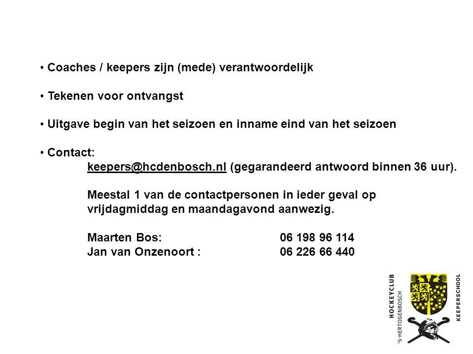 """Doel keeperschool: Promoten """"keepersvak"""", Keepen is cool !! Verantwoordelijk voor al het keepersmateriaal voor de hele club. (kosten per miniset +/- €"""
