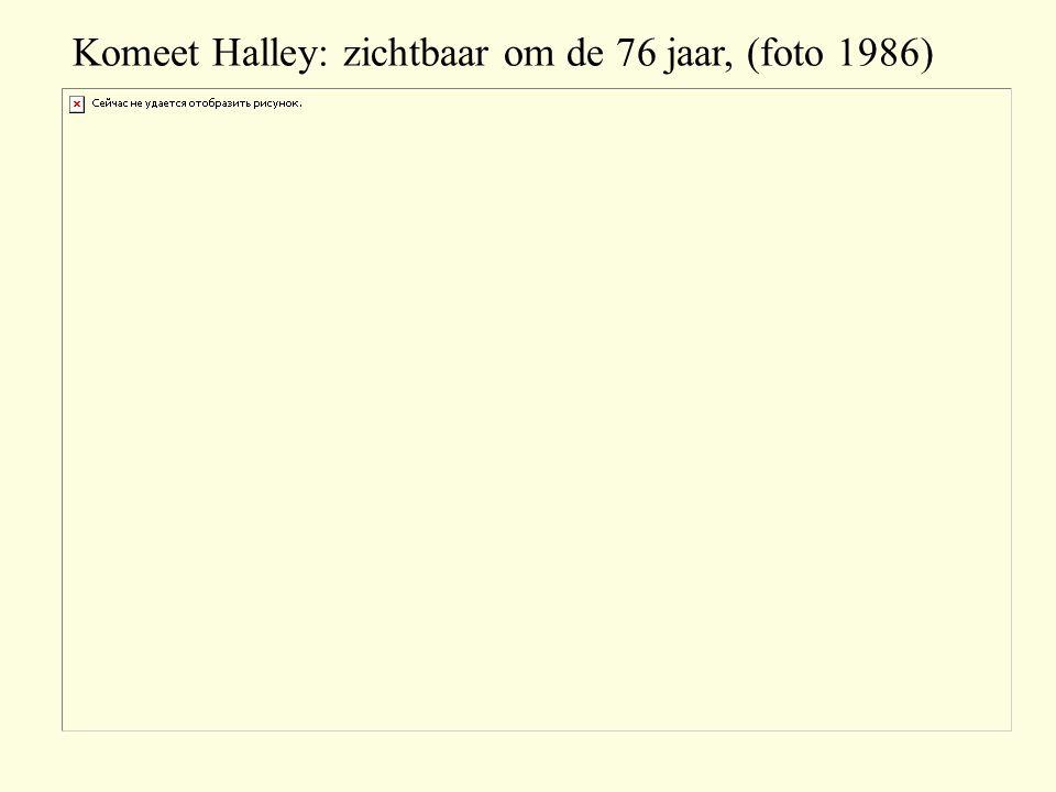 Komeet Halley: zichtbaar om de 76 jaar, (foto 1986)
