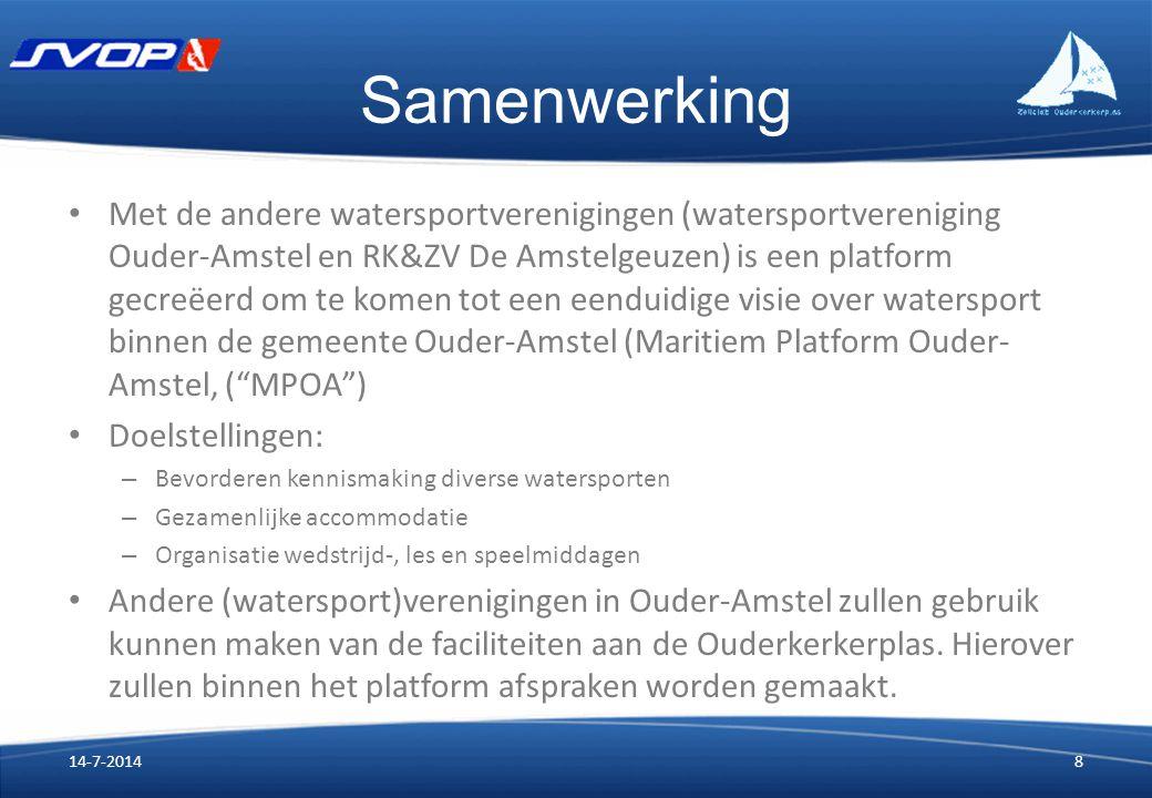 Samenwerking Met de andere watersportverenigingen (watersportvereniging Ouder-Amstel en RK&ZV De Amstelgeuzen) is een platform gecreëerd om te komen t