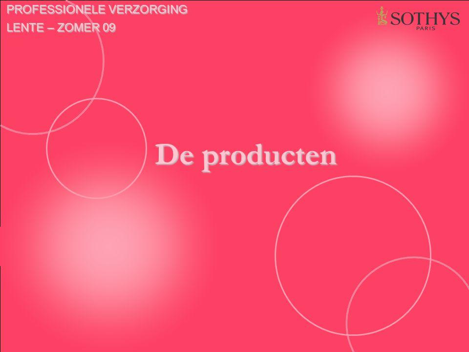 De producten PROFESSIONELE VERZORGING LENTE – ZOMER 09