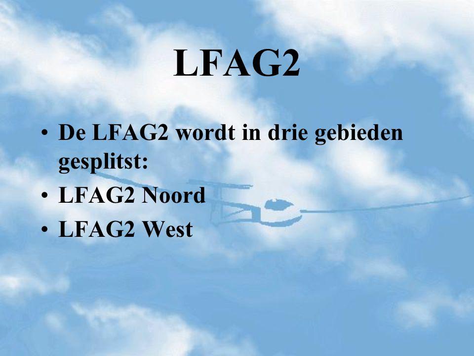 De LFAG2 wordt in drie gebieden gesplitst: LFAG2 Noord LFAG2 West LFAG2