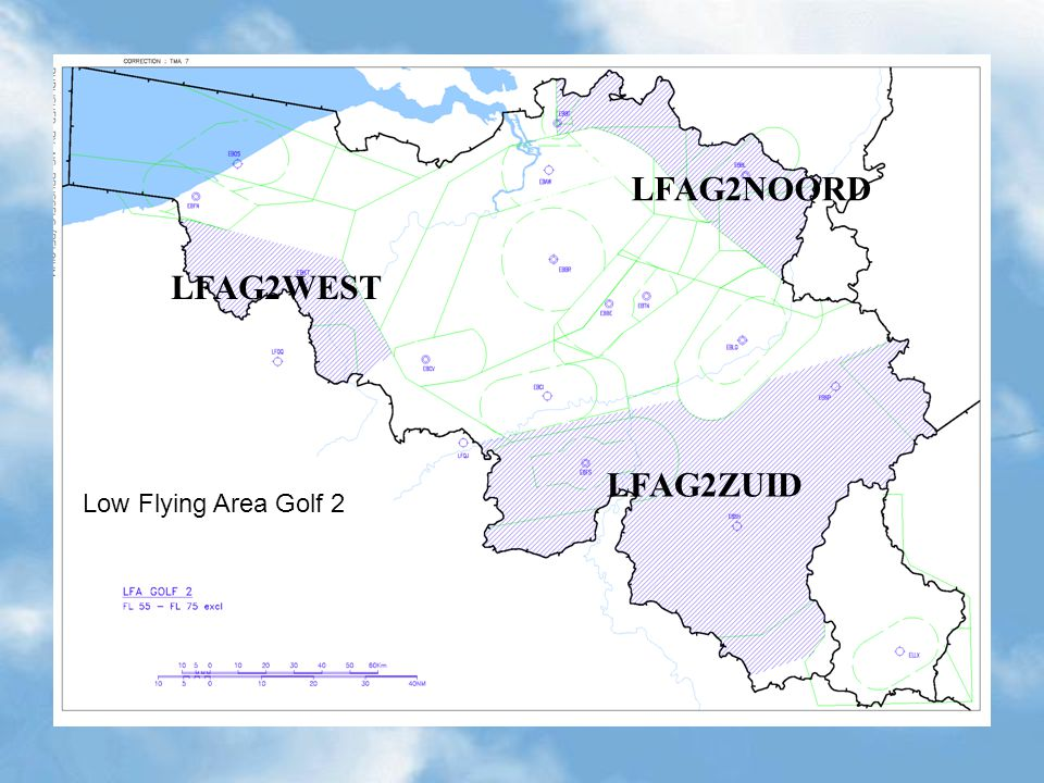 Low Flying Area Golf 2 LFAG2ZUID LFAG2NOORD LFAG2WEST