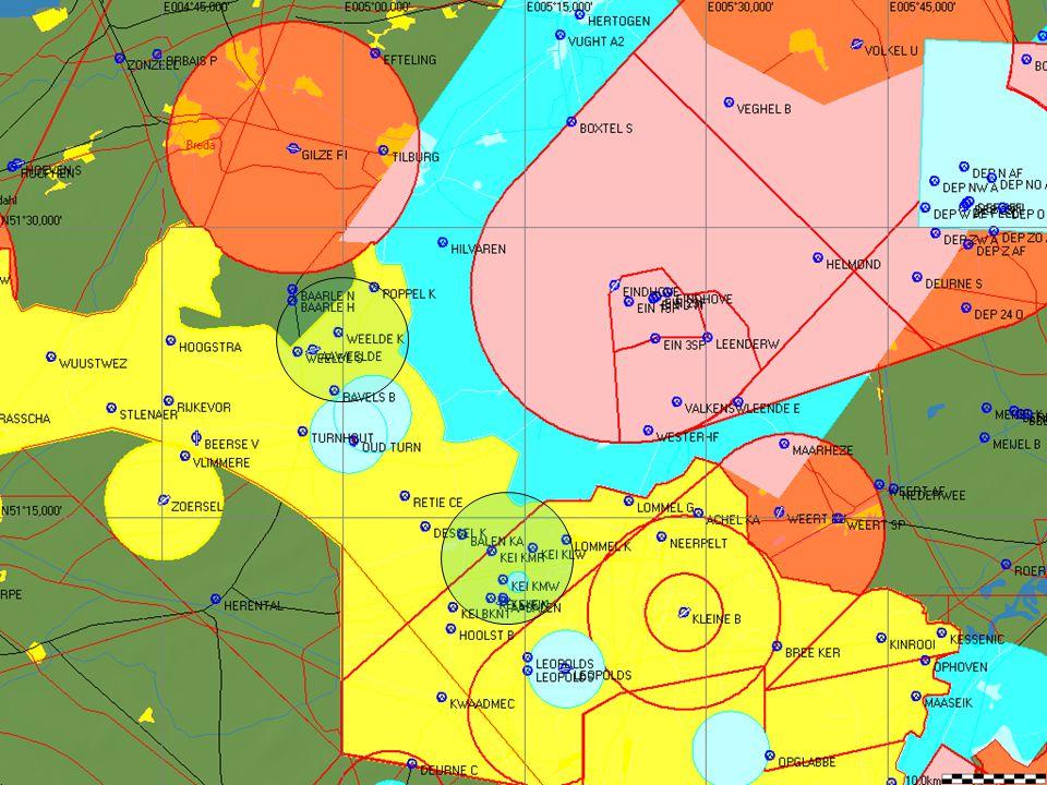 LFAG1 Buiten de militaire activiteiten wordt een deel gecontroleerd gebied automatisch vrij gegeven tot FL55 en wordt dan beschouwd als ongecontroleerd G gebied Buffer van 500ft wordt door ons toegepast