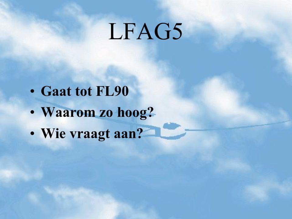 LFAG5 Gaat tot FL90 Waarom zo hoog? Wie vraagt aan?