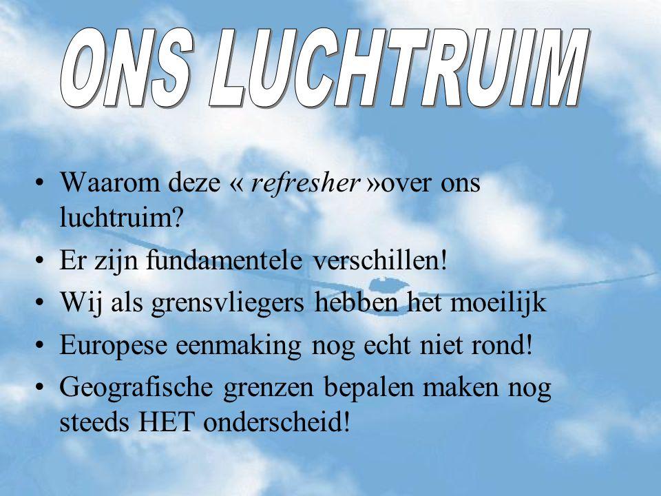 Overlegstructuur België Vlaamse zweefvliegliga nam de initiatieven Luc Beerts start onderhandelingen met Belac Resultaat is het verkrijgen van de Low Flying Area