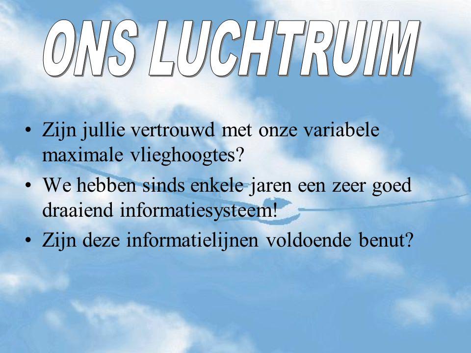 Maximum 4500 ft AMSL =1370m AMSL Nederland = FL 65 Waarom deze verschillen.