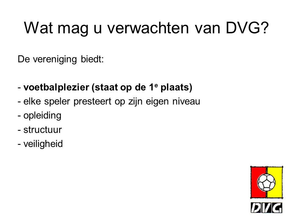 Wat mag u verwachten van DVG.