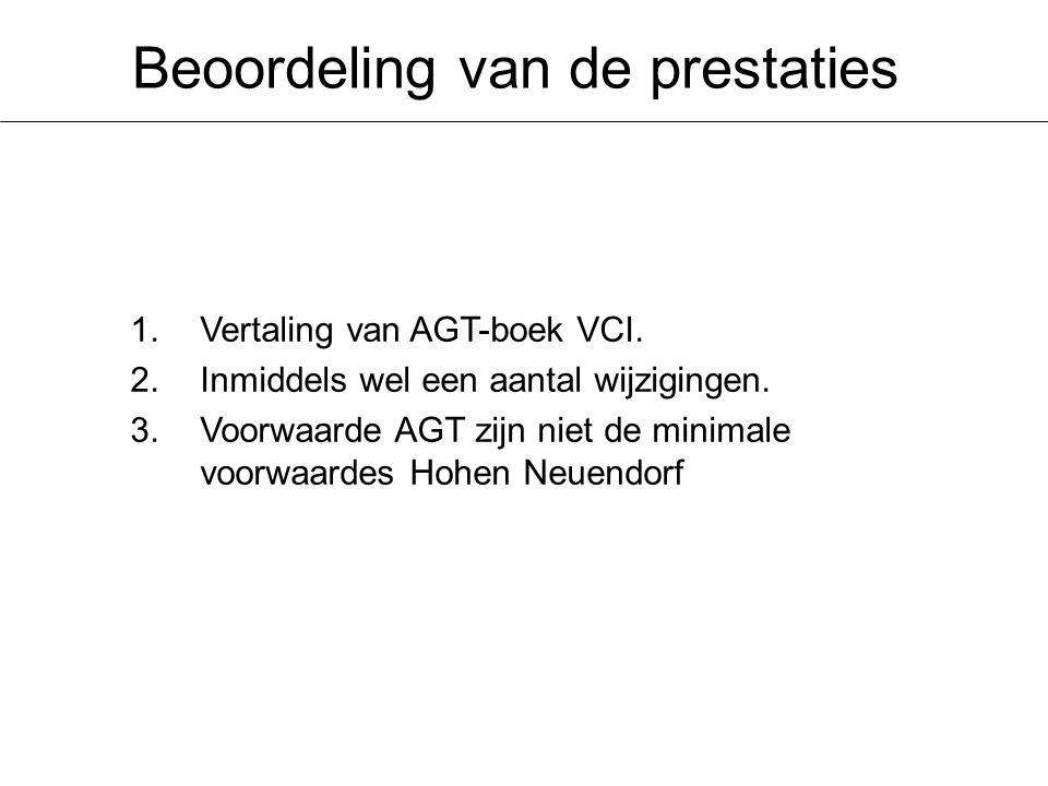 Beoordeling van de prestaties 1.Vertaling van AGT-boek VCI.
