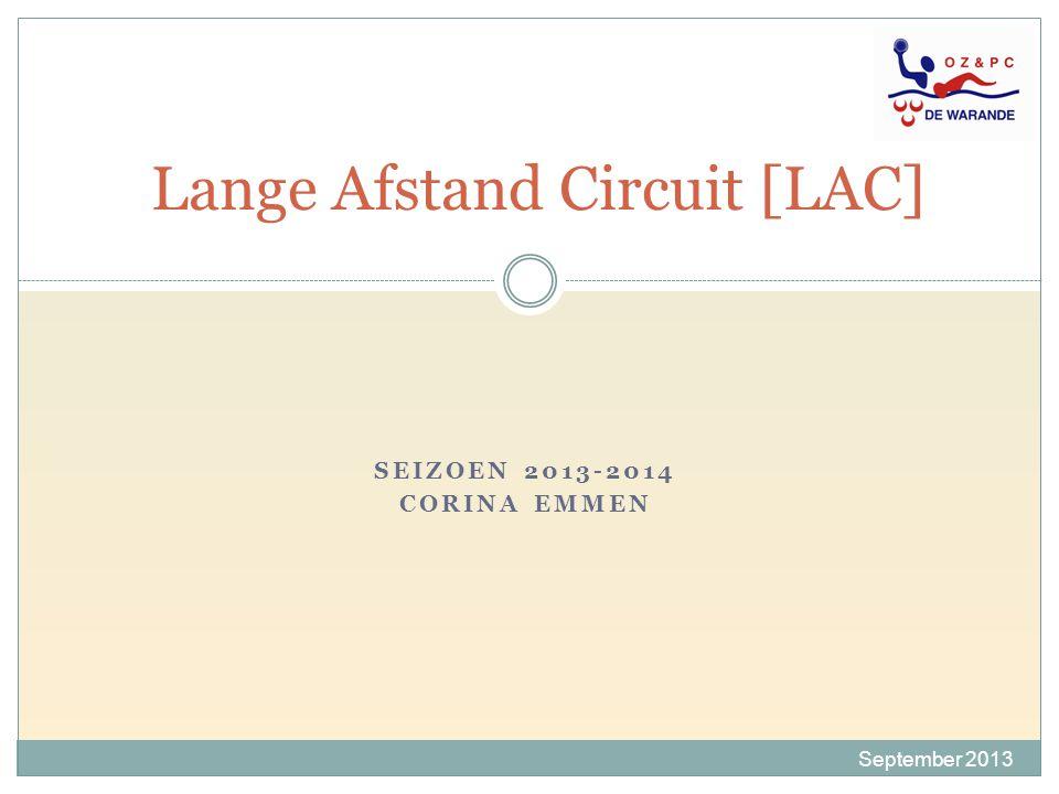 SEIZOEN 2013-2014 CORINA EMMEN Lange Afstand Circuit [LAC] September 2013