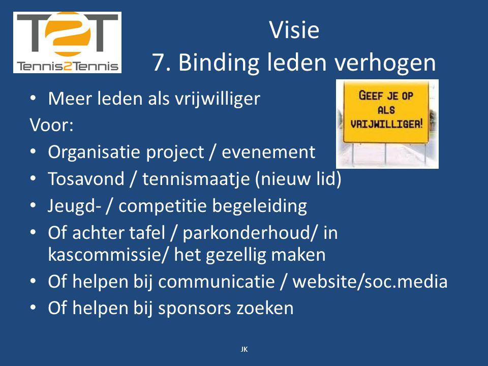 Visie Als dan kunnen we met recht zeggen: Tennis2Tennis Van Elkaar en Voor Elkaar! JK