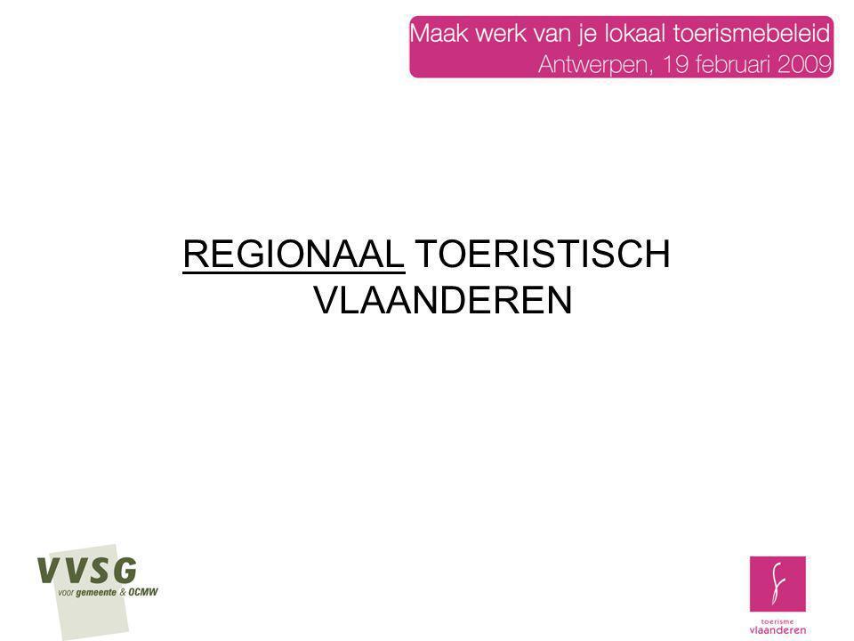 Strategische project RTV Stap 1: met elke provincie, gesprek/vergadering over opzet onthaalactieplan per regio (afspraken over methodologie (zeker bottom up), manier van werken en tijdskader van de visie, output van het onthaalactieplan)(trekker Provinciale toeristische dienst, Toerisme Vlaanderen…) Stap 2: realisatie van een onthaalactieplan per regio, overlegmomenten en beslissingsmomenten, het actieplan lost ook de zwakke punten inzake onthaal van de regio op Stap 3: evaluatie van de bestaande onthaalpunten aan het plan van eisen onthaalactieplan Stap 4: convenant waarbij de te realiseren afspraken door alle partijen worden bevestigd Stap 5: uitvoering van het actieplan