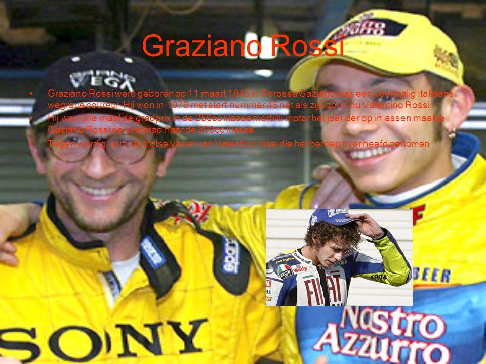 Graziano Rossi Graziano Rossi werd geboren op 11 maart 1945 in Perossa Gaziano was een voormalig Italiaans wegrace coureur. Hij won in 1979 met start