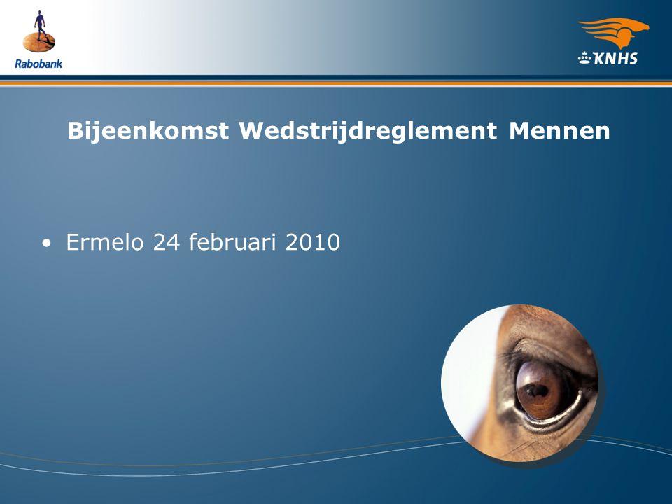 Bijeenkomst Wedstrijdreglement Mennen Ermelo 24 februari 2010