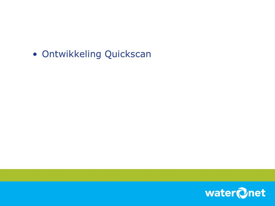 Ontwikkeling Quickscan