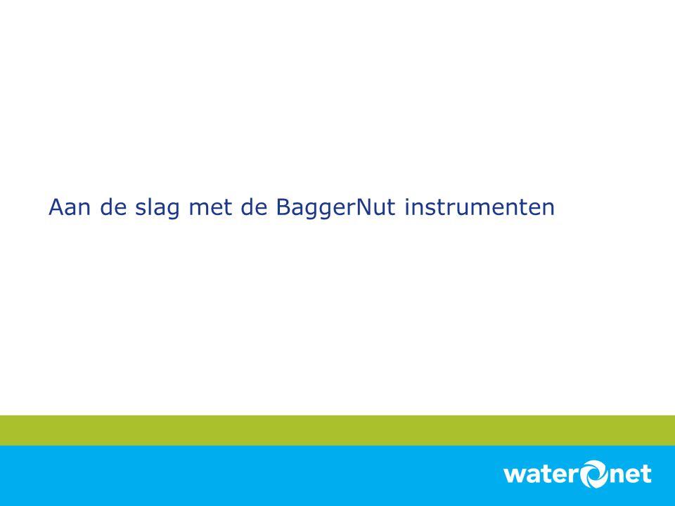 Aan de slag met de BaggerNut instrumenten