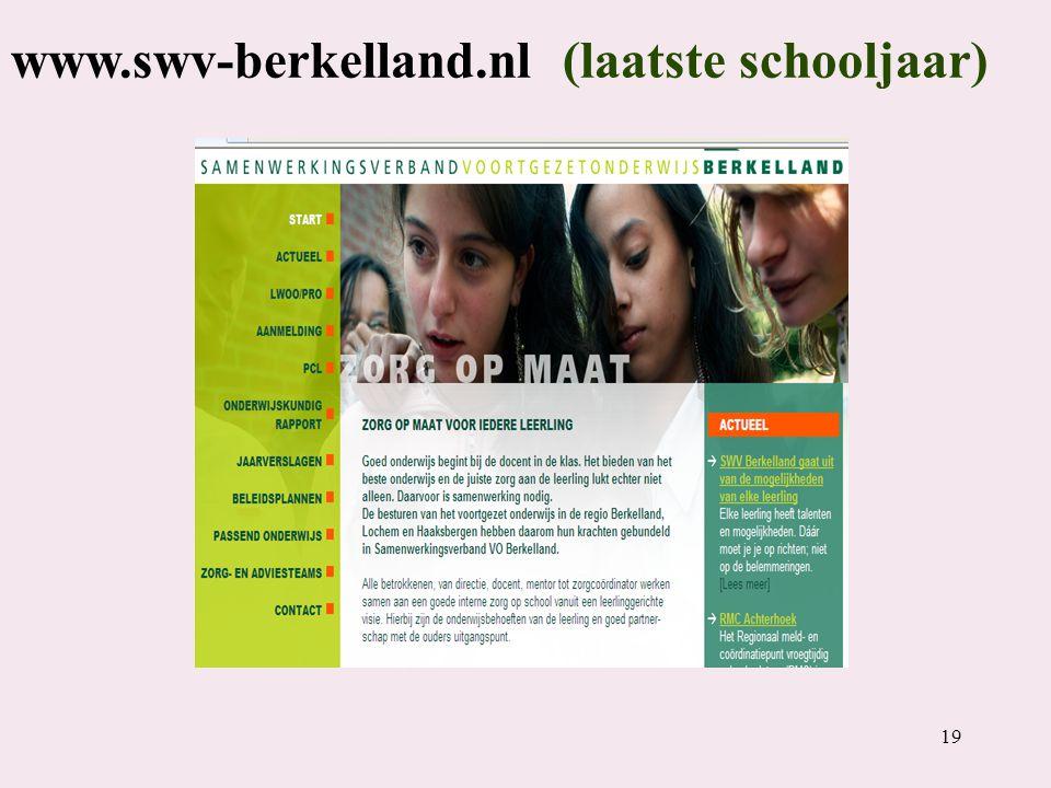 19 www.swv-berkelland.nl (laatste schooljaar)
