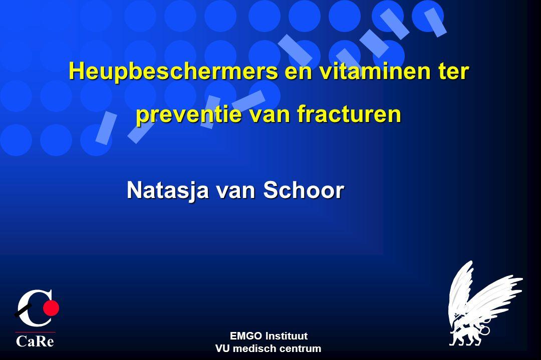 Natasja van Schoor C CaRe Heupbeschermers en vitaminen ter preventie van fracturen EMGO Instituut VU medisch centrum