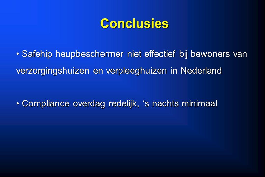 Safehip heupbeschermer niet effectief bij bewoners van verzorgingshuizen en verpleeghuizen in Nederland Safehip heupbeschermer niet effectief bij bewo