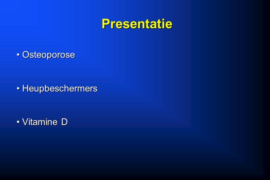 Osteoporose Osteoporose Heupbeschermers Heupbeschermers Vitamine D Vitamine D Presentatie
