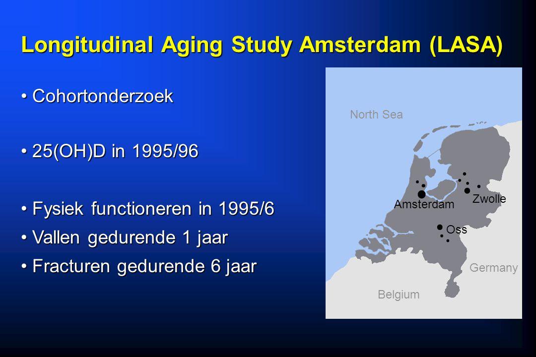 Longitudinal Aging Study Amsterdam (LASA) Cohortonderzoek Cohortonderzoek 25(OH)D in 1995/96 25(OH)D in 1995/96 Fysiek functioneren in 1995/6 Fysiek f