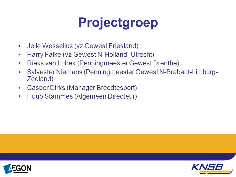 Projectgroep Jelle Wesselius (vz Gewest Friesland) Harry Falke (vz Gewest N-Holland–Utrecht) Rieks van Lubek (Penningmeester Gewest Drenthe) Sylvester